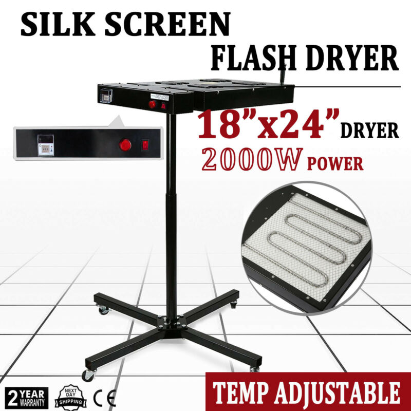 "18"" X 24"" Flash Dryer Silkscreen T-shirt Printing Curing Adjustable Heavy Duty"