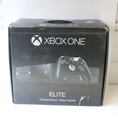 BOXED 1TB BLACK MICROSOFT ELITE WITH HYBRID DRIVE XBOX ONE CONSOLE ONLY!