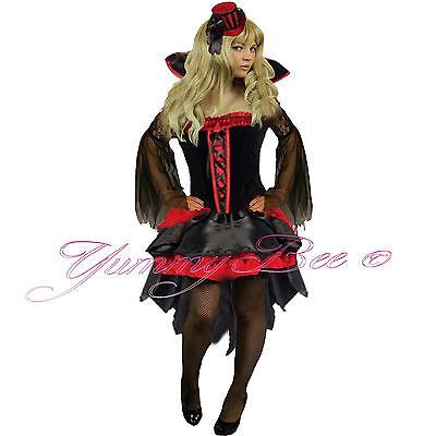 Fancy Dress Halloween Costume Vampire Wicked Queen Women Plus Size 6-18 + - Wicked Queen Costume Plus Size