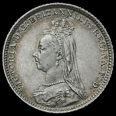 1888 Queen Victoria Jubilee Head Silver Groat