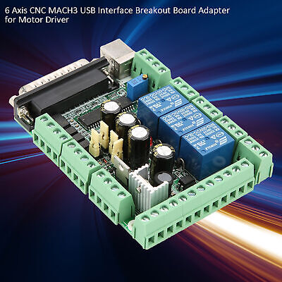Diy Engraving Machine Mach3 Usb Cnc 6-axis Interface Breakout Board Adapter