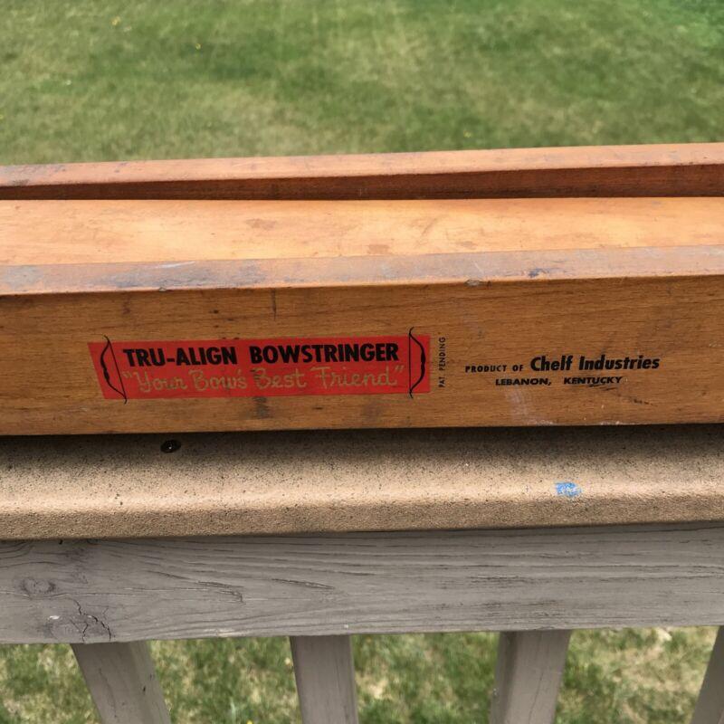 Vintage Tru-Align wooden Bow Stringer By Chelf Industries