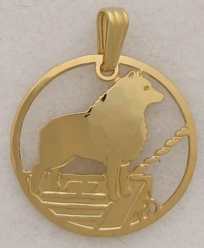 Schipperke Jewelry Gold Pendant by Touchstone