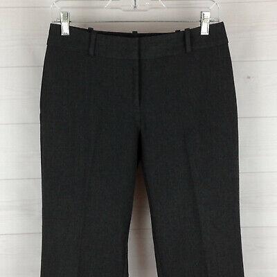 Talbots Curvy womens size 4P stretch dark gray mid rise straight career pants