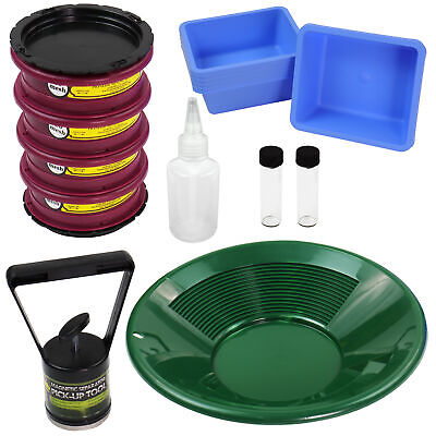 Gold Cube Gold Panning Fine Gold Super Concentrates Clean-up Kit
