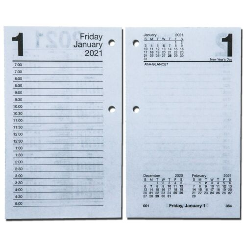 2021 At-A-Glance E717-50 Daily Calendar Refill, 17 Style, 3-1/2 x 5-27/32""