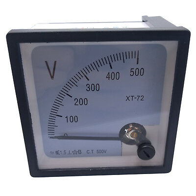Us Stock Ac 0500v Square Analog Volt Pointer Needle Panel Meter Voltmeter Xt-72