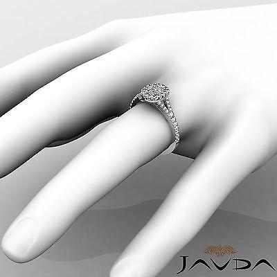 Halo Split Shank French U Pave Cushion Diamond Engagement Ring GIA F VS2 1.21 Ct 4