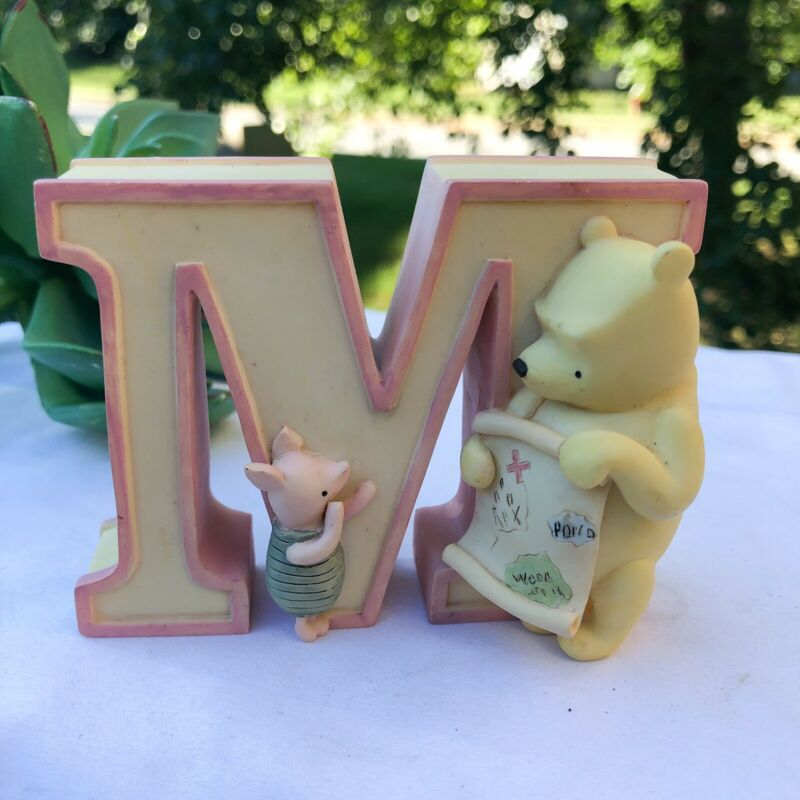 """Disney Classic Winnie the Pooh Resin Letter""""M"""" Michel & Co"""