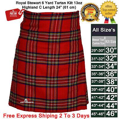Royal Stewart Kilt -  Kilt Traditional Royal Stewart Men's 6yard Scottish Tartan Kilts 13oz Highland