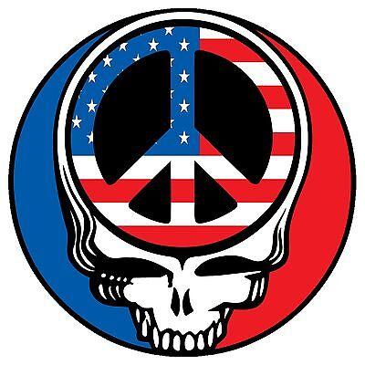 "Grateful Dead Steal Your Face Peace Sign 3"" Vinyl Sticker"