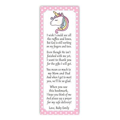 30 bookmarks baby shower sprinkle pink unicorn girl favor ideas personalized - Girl Baby Shower Favors Ideas