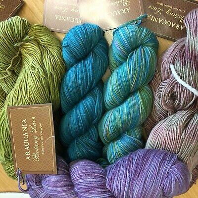 Lace Shades (Araucania Botany Lace 100g Pure Merino VARIOUS SHADES Laceweight/3ply hand dyed)