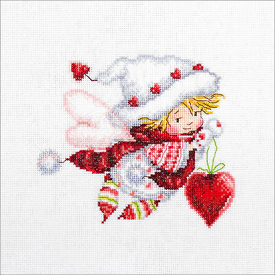 Cross Stitch Kit   Rto Little Girl Valentine Fairy W Hearts  M515