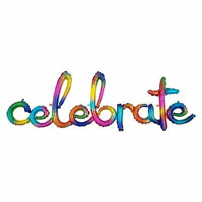 149cm Celebración Aluminio Boda Cumpleaños Foto Broma Aire Lleno Fiesta Palabra