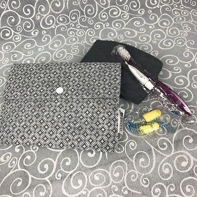 Qatar Airways Amenity Kit Bag Set Economy Earplugs Socks Eyemask Toothbrushpaste