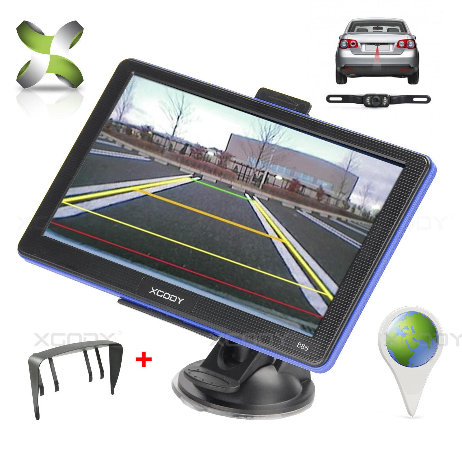 "XGODY 886 7"" GPS Navigation Bluetooth Sat Nav+Reverse"