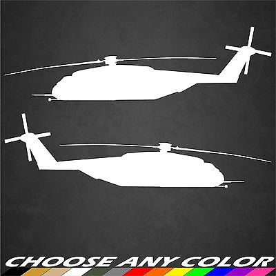 2 USMC CH-53 Sea Stallion Helicopter Marines Sticker Military Graphics Decal Car