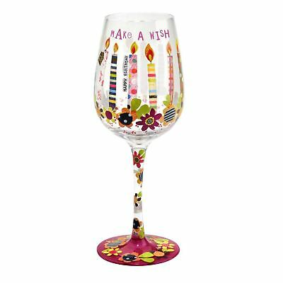 Here's To You Make A Wish Birthday Decorated Womens Pattern Wine Glass Gift Idea](Wine Glass Decorating Ideas)