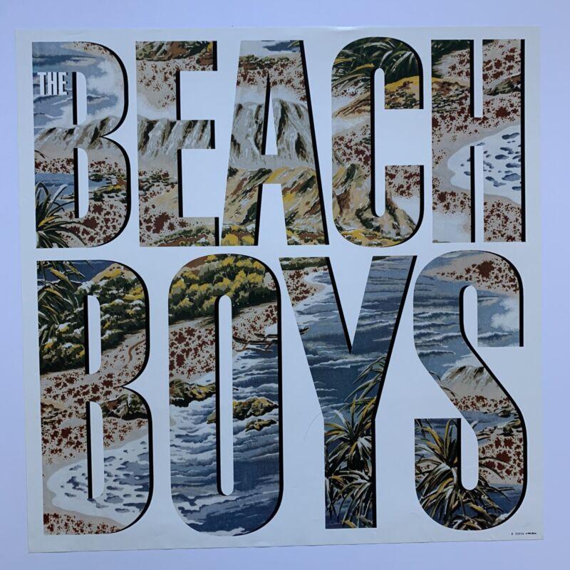 "Original 1985 Beach Boys self titled Promotional Poster 23"" x 23"" Brian Wilson"