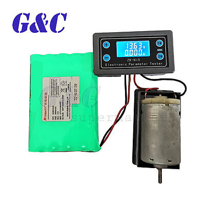 Multifunction Voltage Current Meter Power Capacity Time Battery Charge Discharge