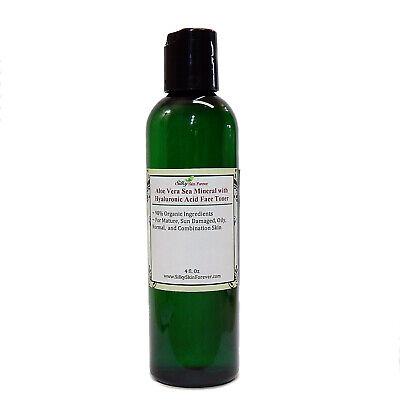 Aloe Vera Sea Mineral Face Toner w/ Hyaluronic Acid Dead Sea Salt Kelp Organic ()