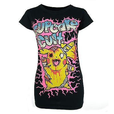 Zombie Cupcake (Cupcake Cult - Zombie, Girl-Shirt Schwarz)