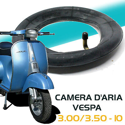 Camera d'aria 3.00/3.50-10 100/90-10 VESPA 50/125/150 APE 50 VALVOLA FERRO CURVA