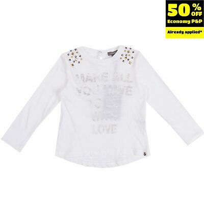MICROBE BY MISS GRANT T-Shirt Top Size 2Y / 86-92CM Coated Studded
