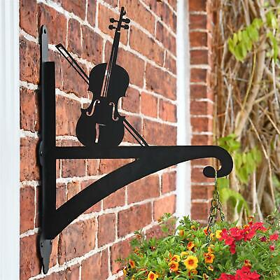 New Violin Iron Hanging Basket Bracket - 47cm x 33cm