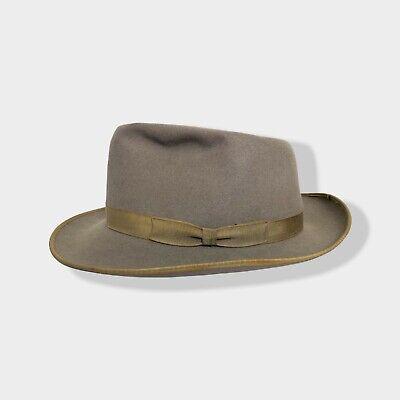 1950s Mens Hats | 50s Vintage Men's Hats Vtg 1950s/1960s SUPERFINE QUALITY Fedora 7 1/4 ~ hat Whippet BOUND EDGE playboy $114.99 AT vintagedancer.com