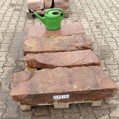 4 Antike Sandstein Friese Naturstein Pfeiler Stufen Blockstufe Treppenstufe G 19