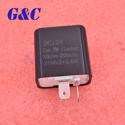 Motorcycle Electric Flasher Blinker Relay LED Indicator Lighter 2 Pin 12 NEW