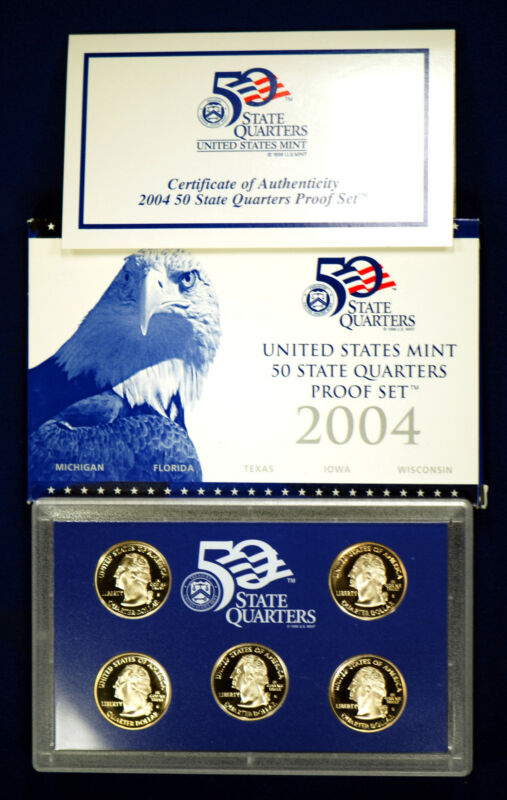 2004  U.S. Mint Made STATE QUARTERS Proof Set in original BLUE box