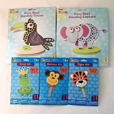 Kids Crafts Foam Kits Christmas Gift Elephant Toucan Frog Tiger Monkey Easy - Easy Kids Crafts