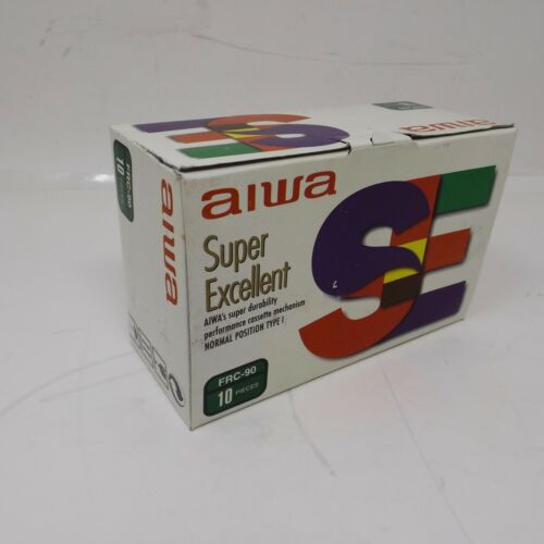 AIWA  SE SUPER EXCELLENT FRC-90 BOX OF 10 BLANK CASSETTE TAPES Sealed