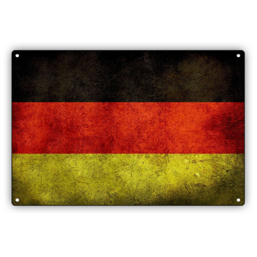 Germany Country German Flag Wall Mounted Portable Novelty Aluminum Metal Sign