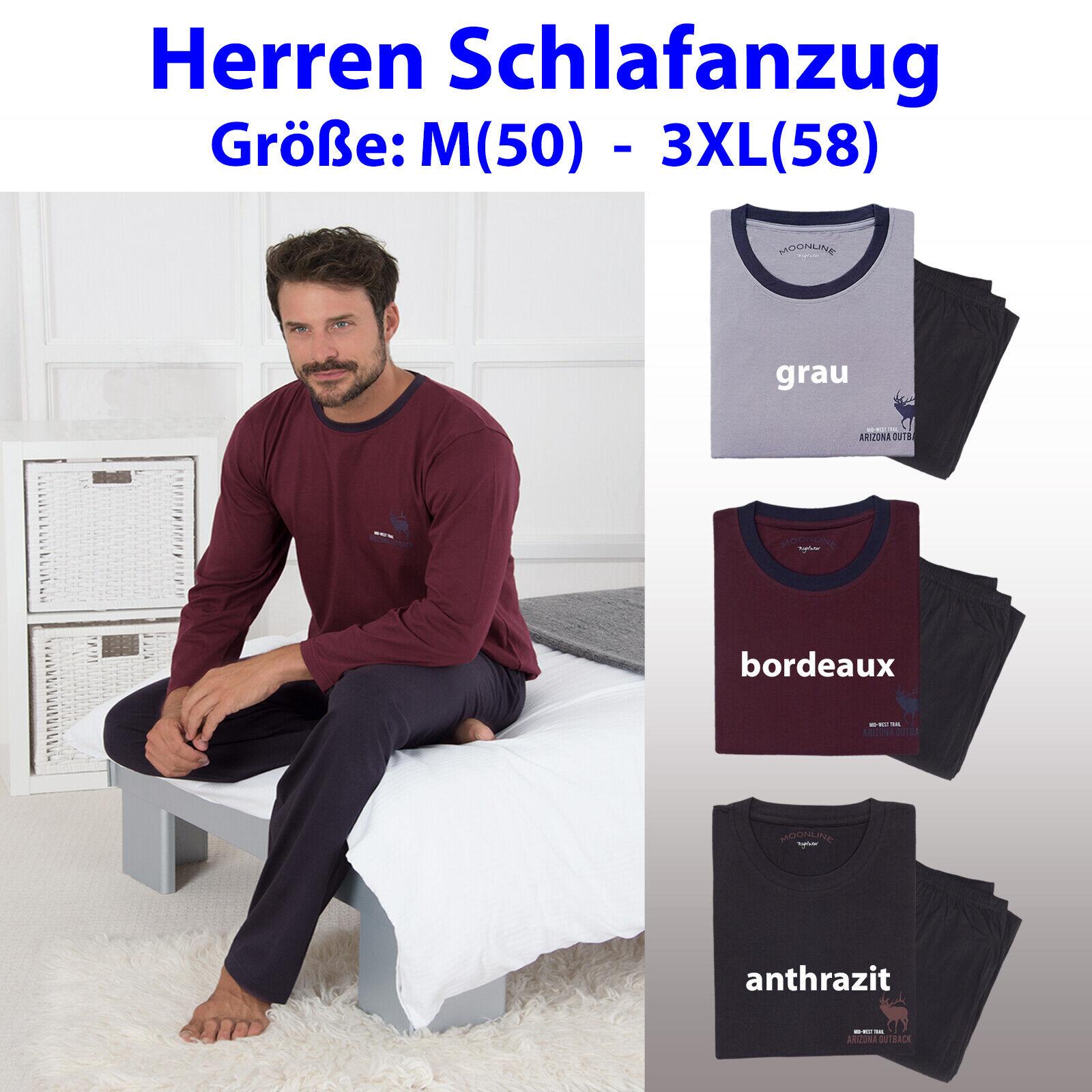 Herren Nachtwäsche Pyjama Schlafanzug Nachtanzug Michele 100% Baumwolle M-3XL ..