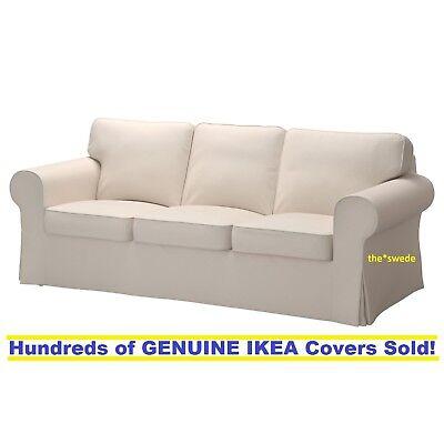 Ikea EKTORP Three (3) Seat Sofa Slipcover Cover LOFALLET BEIGE New in Box!