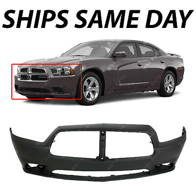 NEW Primered - Front Bumper Cover Fascia for 2011 2012 2013 2014 Dodge Charger Dodge Charger Bumper Cover