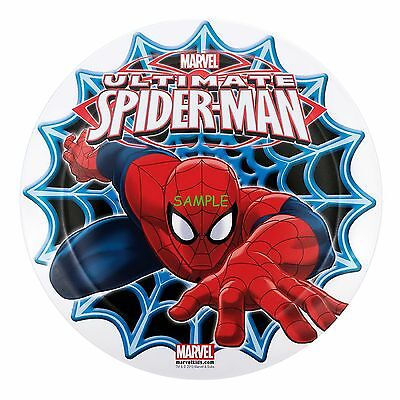 Spiderman Round Edible Birthday Cake Topper Frosting Sheet - Spiderman Cake Toppers