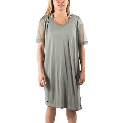 PUMA x HUSSEIN CHALAYAN Mesh Panel Tee Dress Castor Grey size S $100