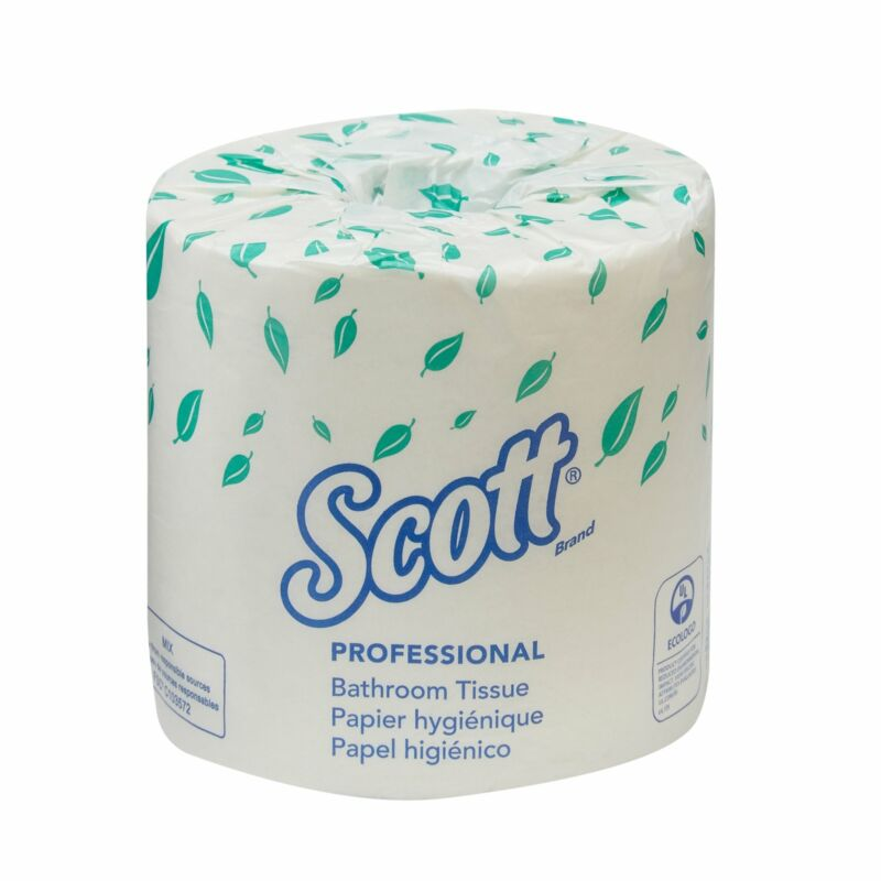 Scott Essential 2-Ply Bathroom Toilet Tissue Paper Rolls White 80 Rolls 04460
