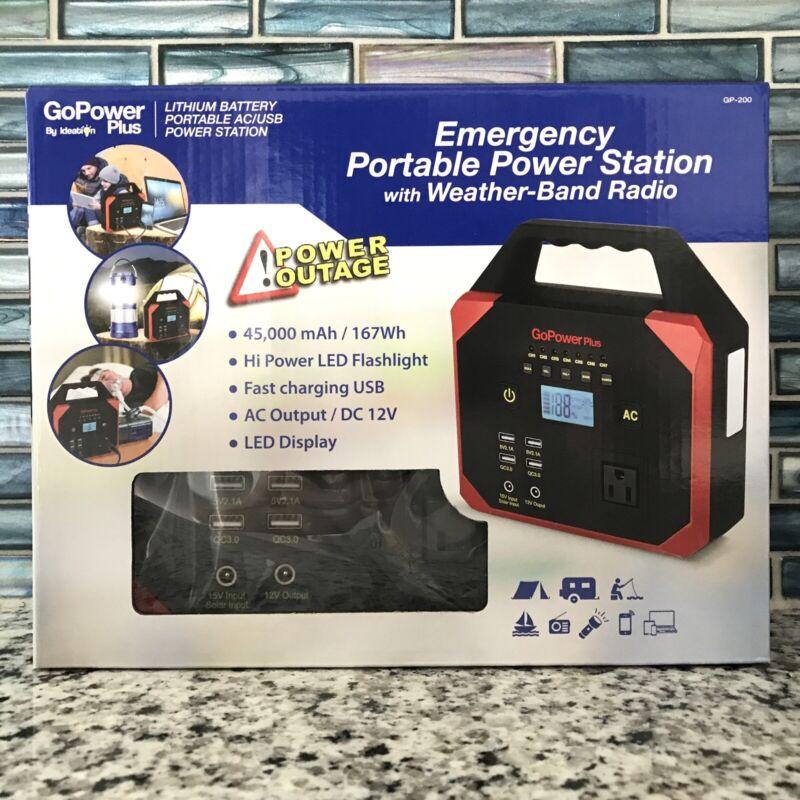 Go Power Plus GP200 Portable Power Station, Weather Radio LED Light