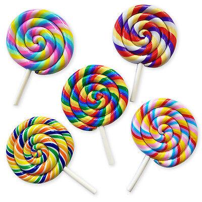 1pcs Jumbo Swirl Lollipop Flatback Cabochons Embellishment Decoden Craft Phone