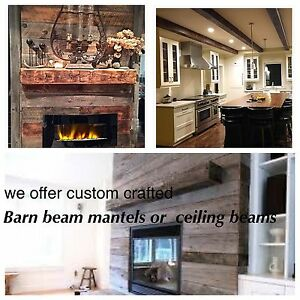 100+yr old barn beams hand hewn or refined Mantels or decorative
