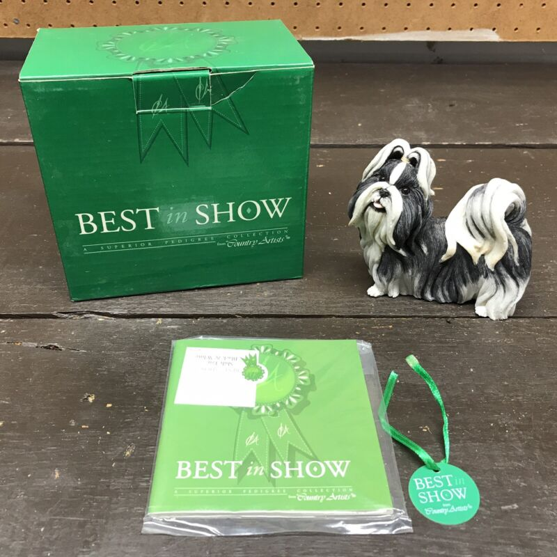 Country Artists Best In Show Collection Shih Tzu Standing Black & White #02238