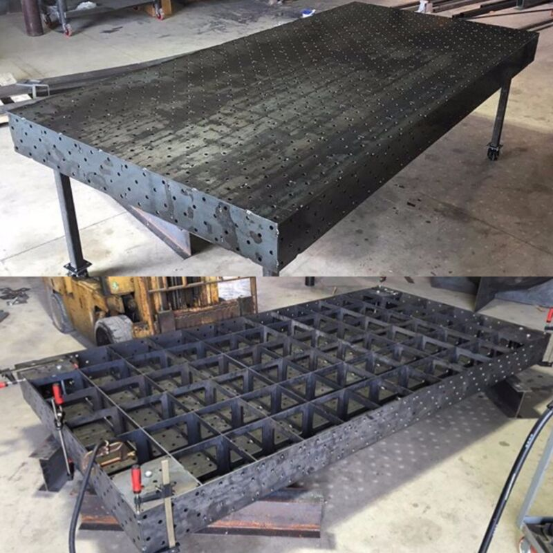 """Welding Fixture Chassis Table 60""""x120"""" : DXF File"""