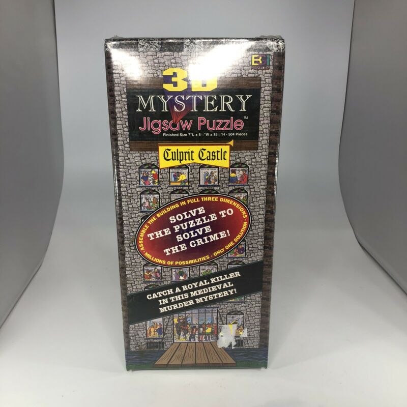 Culprit Castle 3D Mystery Jigsaw Puzzle 504 Pieces 1996 Buffalo Games New Sealed