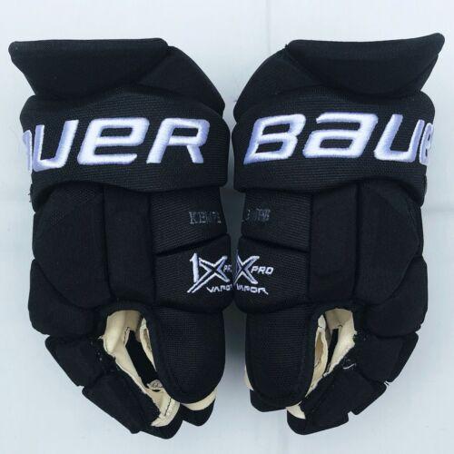 """Pro Stock Return LA Kings Adrian Kempe Bauer 1X Hockey Gloves - 14"""""""